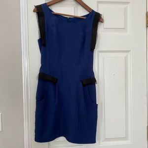 French connection summer blue dress in sz 4
